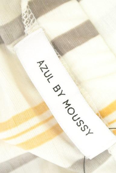 AZUL by moussy(アズールバイマウジー)の古着「ストライプ柄フレア袖カットソー(カットソー・プルオーバー)」大画像6へ