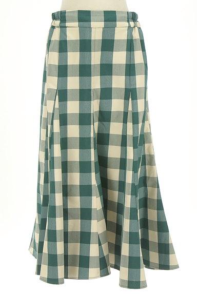 studio CLIP(スタディオクリップ)の古着「チェック柄ロングフレアスカート(ロングスカート・マキシスカート)」大画像1へ