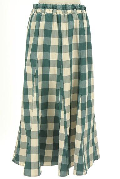 studio CLIP(スタディオクリップ)の古着「チェック柄ロングフレアスカート(ロングスカート・マキシスカート)」大画像2へ