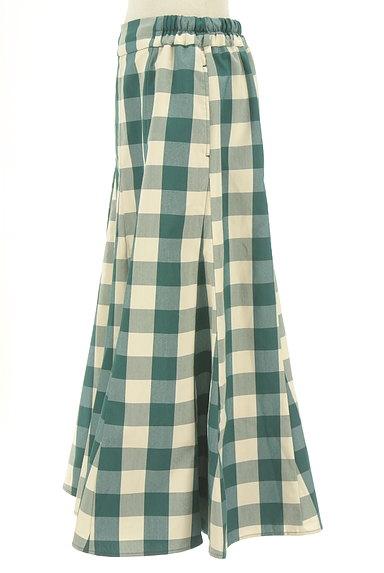 studio CLIP(スタディオクリップ)の古着「チェック柄ロングフレアスカート(ロングスカート・マキシスカート)」大画像3へ