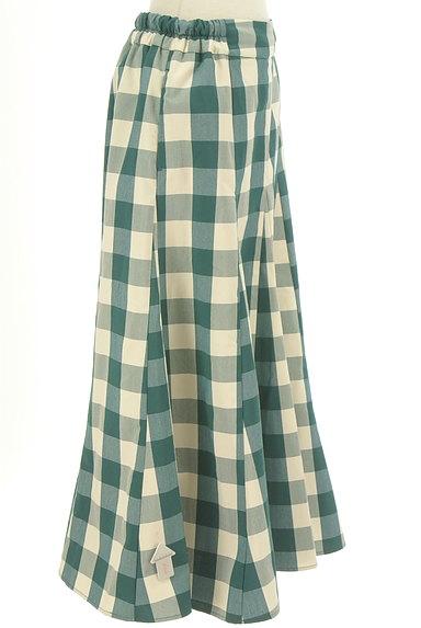 studio CLIP(スタディオクリップ)の古着「チェック柄ロングフレアスカート(ロングスカート・マキシスカート)」大画像4へ
