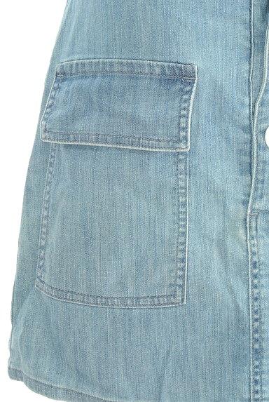 JILL by JILLSTUART(ジルバイジルスチュアート)の古着「ハイウエスト膝上丈サロペットスカート (オーバーオール・サロペット)」大画像5へ