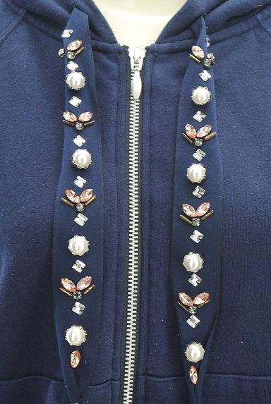 Rirandture(リランドチュール)の古着「装飾フード紐ジップパーカー(スウェット・パーカー)」大画像4へ