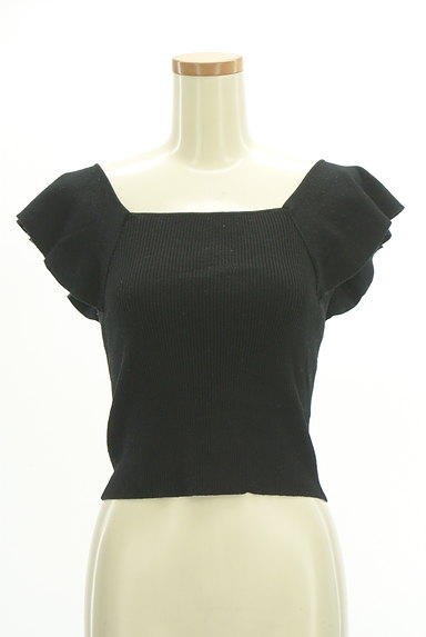 MERCURYDUO(マーキュリーデュオ)の古着「フレア袖コンパクトリブニット(ニット)」大画像1へ