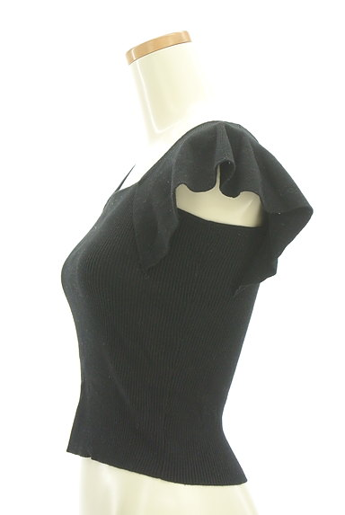 MERCURYDUO(マーキュリーデュオ)の古着「フレア袖コンパクトリブニット(ニット)」大画像3へ