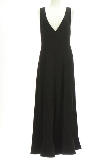 rienda(リエンダ)の古着「裾フリルサロペットパンツ(オーバーオール・サロペット)」大画像1へ