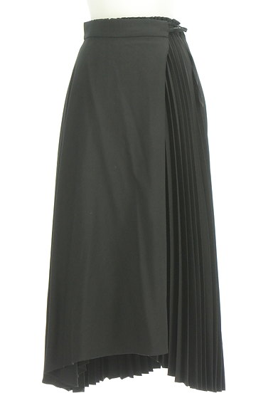 rienda(リエンダ)の古着「ラップ付きプリーツスカート(ロングスカート・マキシスカート)」大画像1へ