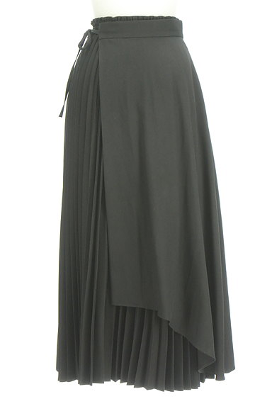 rienda(リエンダ)の古着「ラップ付きプリーツスカート(ロングスカート・マキシスカート)」大画像2へ