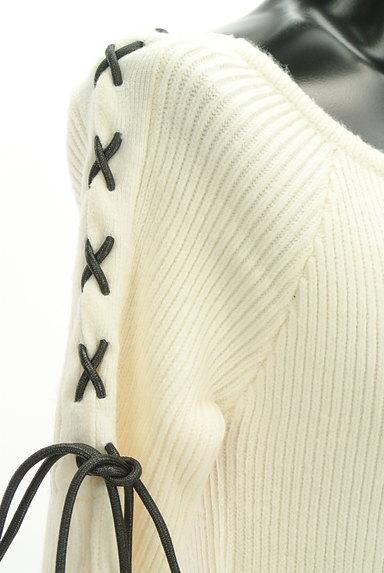 SLY(スライ)の古着「レースアップフレア袖リブニット(セーター)」大画像4へ