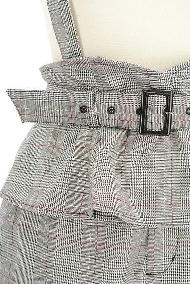 rienda(リエンダ)の古着「ストラップ付チェック柄ペプラムパンツ(パンツ)」大画像4へ
