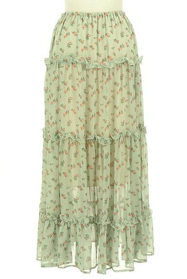 HONEY MI HONEY(ハニーミーハニー)の古着「小花柄ティアードフリルシフォンスカート(ロングスカート・マキシスカート)」大画像2へ