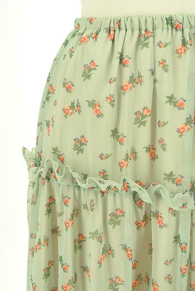 HONEY MI HONEY(ハニーミーハニー)の古着「小花柄ティアードフリルシフォンスカート(ロングスカート・マキシスカート)」大画像4へ