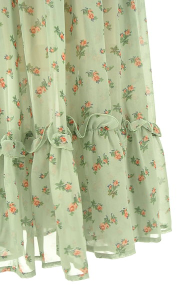 HONEY MI HONEY(ハニーミーハニー)の古着「小花柄ティアードフリルシフォンスカート(ロングスカート・マキシスカート)」大画像5へ