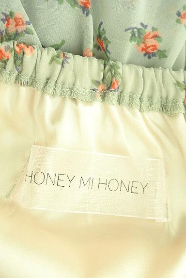 HONEY MI HONEY(ハニーミーハニー)の古着「小花柄ティアードフリルシフォンスカート(ロングスカート・マキシスカート)」大画像6へ