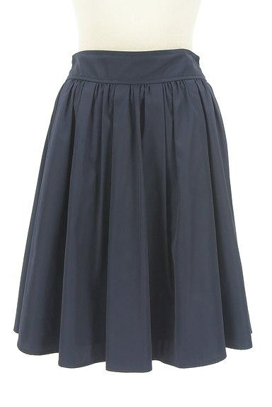 NATURAL BEAUTY BASIC(ナチュラルビューティベーシック)の古着「微光沢膝丈フレアスカート(スカート)」大画像1へ