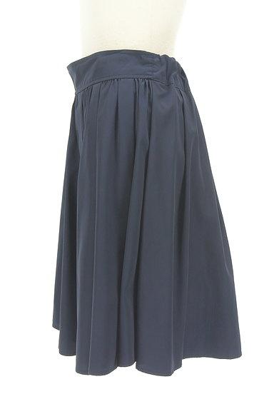 NATURAL BEAUTY BASIC(ナチュラルビューティベーシック)の古着「微光沢膝丈フレアスカート(スカート)」大画像3へ
