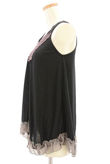 axes femme(アクシーズファム)の古着「蝶刺繍フリルタンクトップ(キャミソール・タンクトップ)」大画像3へ