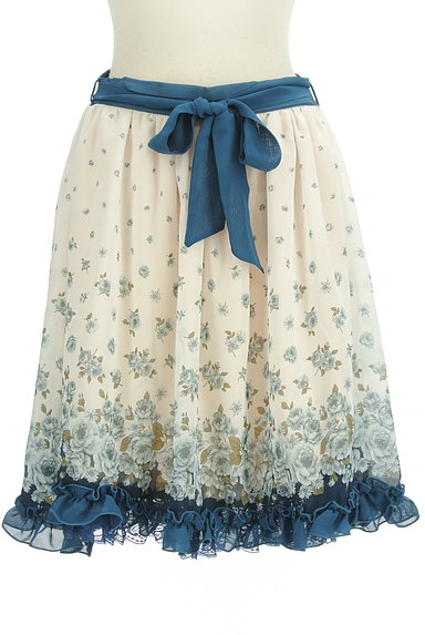 axes femme(アクシーズファム)の古着「花柄シフォンフリルスカート(スカート)」大画像1へ