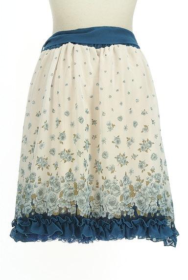 axes femme(アクシーズファム)の古着「花柄シフォンフリルスカート(スカート)」大画像2へ