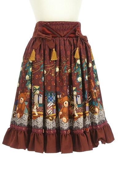 axes femme(アクシーズファム)の古着「クリスマス柄フレアリボンスカート(スカート)」大画像1へ