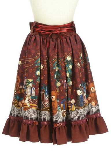 axes femme(アクシーズファム)の古着「クリスマス柄フレアリボンスカート(スカート)」大画像2へ