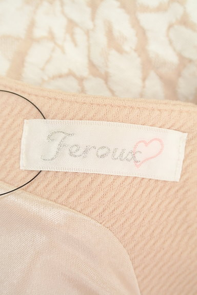 Feroux(フェルゥ)の古着「花柄立体織地フレアワンピース(ワンピース・チュニック)」大画像6へ