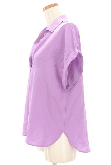 LOUNIE(ルーニィ)の古着「スキッパーカラーシャツカットソー(カットソー・プルオーバー)」大画像3へ