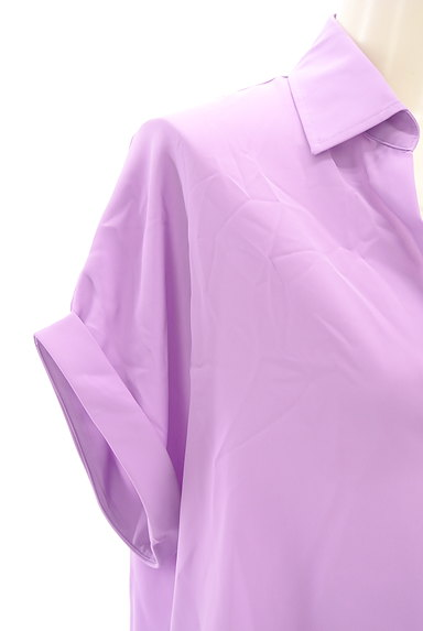 LOUNIE(ルーニィ)の古着「スキッパーカラーシャツカットソー(カットソー・プルオーバー)」大画像4へ
