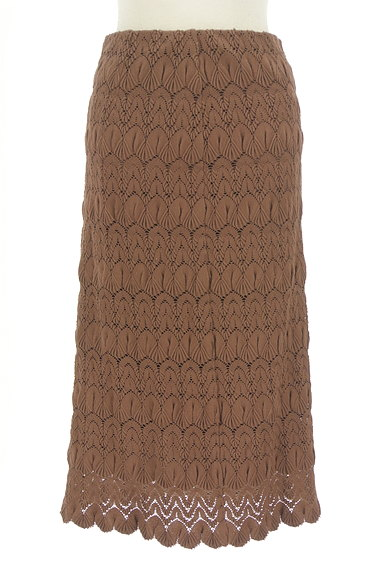 LOUNIE(ルーニィ)の古着「タイト刺繍ミモレスカート(ロングスカート・マキシスカート)」大画像1へ