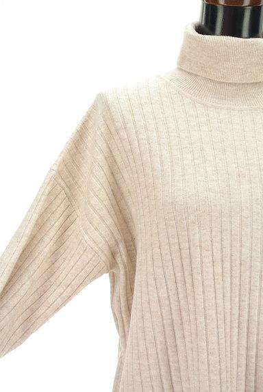 LOUNIE(ルーニィ)の古着「袖メッシュタートルリブニットワンピ(ワンピース・チュニック)」大画像4へ