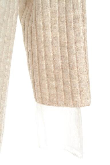 LOUNIE(ルーニィ)の古着「袖メッシュタートルリブニットワンピ(ワンピース・チュニック)」大画像5へ