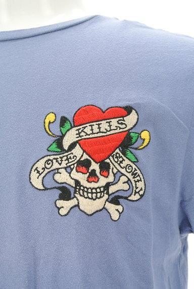 ED HARDY(エドハーディ)の古着「ロゴ&スカル刺繍Tシャツ(Tシャツ)」大画像4へ