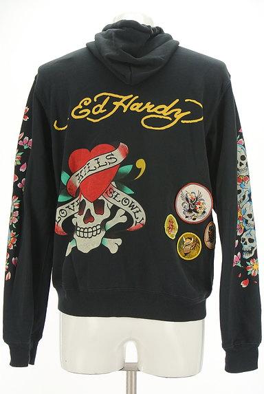 ED HARDY(エドハーディ)の古着「和ロックジップアップパーカー(スウェット・パーカー)」大画像2へ