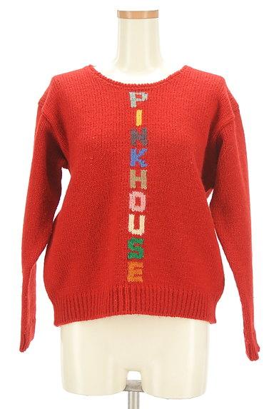 PINK HOUSE(ピンクハウス)の古着「カラフルロゴニットセーター(ニット)」大画像1へ