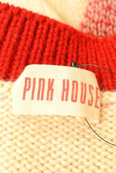 PINK HOUSE(ピンクハウス)の古着「ラグランワッペンカーディガン(カーディガン・ボレロ)」大画像6へ