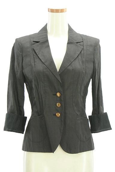 COMME CA DU MODE(コムサデモード)の古着「7分袖リネンテーラードジャケット(ジャケット)」大画像1へ