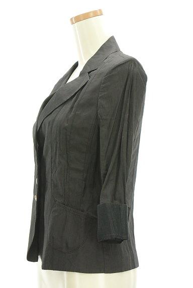 COMME CA DU MODE(コムサデモード)の古着「7分袖リネンテーラードジャケット(ジャケット)」大画像3へ
