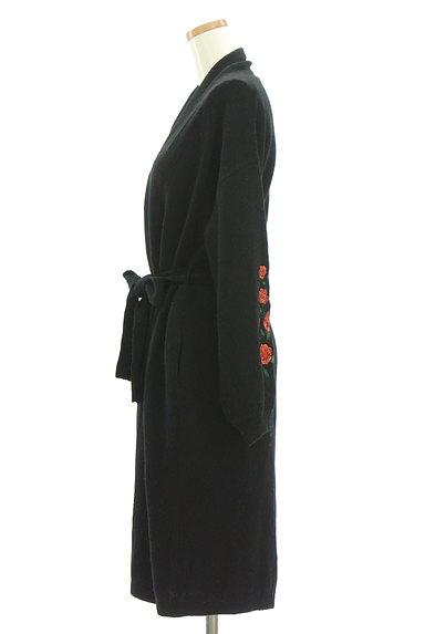 LOUNIE(ルーニィ)の古着「ウエストリボンバラ刺繍ニットカーディガン(カーディガン・ボレロ)」大画像3へ