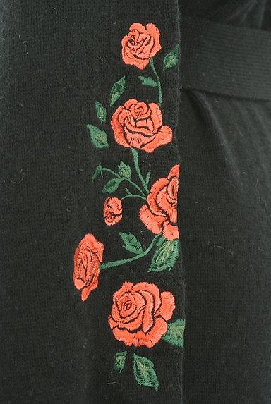 LOUNIE(ルーニィ)の古着「ウエストリボンバラ刺繍ニットカーディガン(カーディガン・ボレロ)」大画像4へ