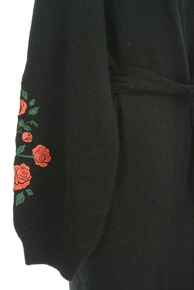 LOUNIE(ルーニィ)の古着「ウエストリボンバラ刺繍ニットカーディガン(カーディガン・ボレロ)」大画像5へ