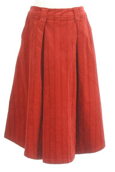 Jocomomola(ホコモモラ)の古着「ミモレ丈コーデュロイフレアスカート(スカート)」大画像1へ