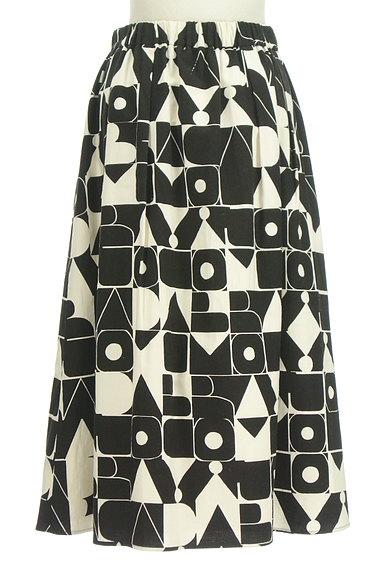 Jocomomola(ホコモモラ)の古着「ミモレ丈モノトーンロゴスカート(ロングスカート・マキシスカート)」大画像2へ