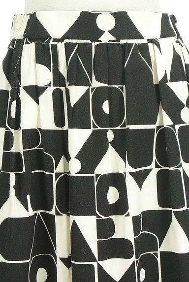 Jocomomola(ホコモモラ)の古着「ミモレ丈モノトーンロゴスカート(ロングスカート・マキシスカート)」大画像4へ