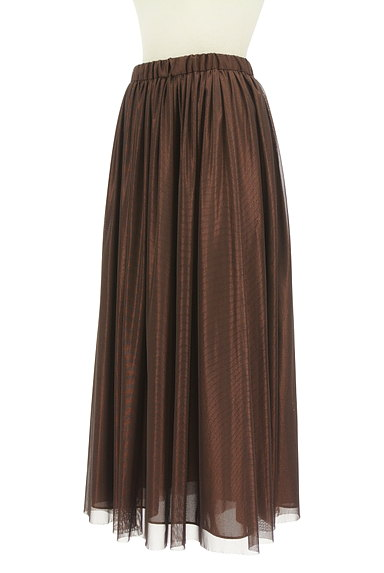 COLLAGE GALLARDAGALANTE(コラージュ ガリャルダガランテ)の古着「光沢チュールロングスカート(ロングスカート・マキシスカート)」大画像3へ