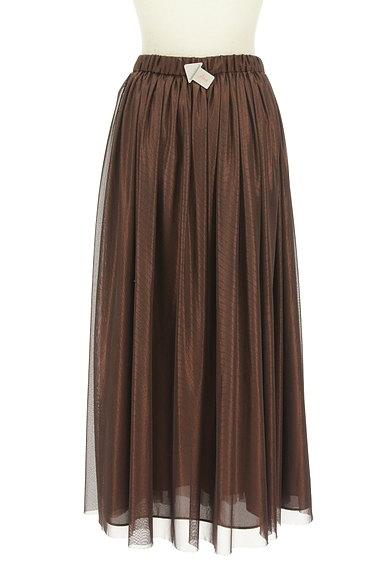 COLLAGE GALLARDAGALANTE(コラージュ ガリャルダガランテ)の古着「光沢チュールロングスカート(ロングスカート・マキシスカート)」大画像4へ