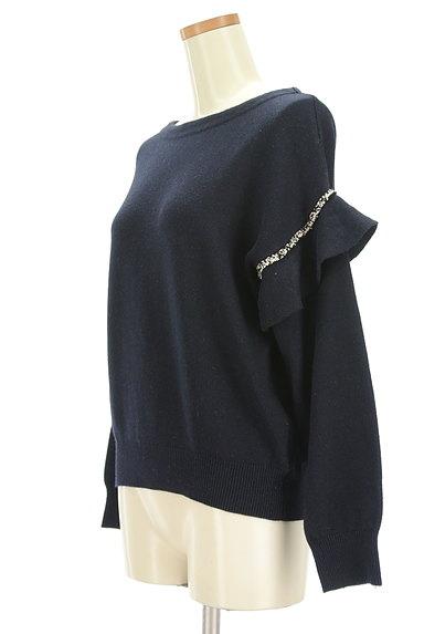 COLLAGE GALLARDAGALANTE(コラージュ ガリャルダガランテ)の古着「袖フリルニット(ニット)」大画像3へ