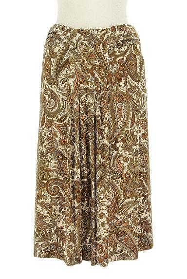 SCAPA(スキャパ)の古着「フロントタックペイズリー柄スカート(スカート)」大画像1へ
