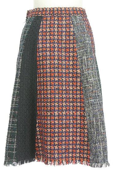 STRAWBERRY-FIELDS(ストロベリーフィールズ)の古着「膝下丈ラメツイード切替フレアスカート(スカート)」大画像2へ