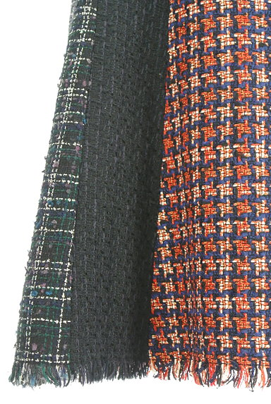 STRAWBERRY-FIELDS(ストロベリーフィールズ)の古着「膝下丈ラメツイード切替フレアスカート(スカート)」大画像5へ