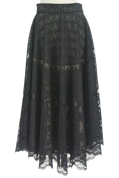 STRAWBERRY-FIELDS(ストロベリーフィールズ)の古着「シアーオリエンタル柄マキシスカート(ロングスカート・マキシスカート)」大画像1へ